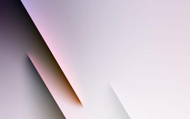 Colore di luce e ombra della striscia di sfondo sfumato bianco