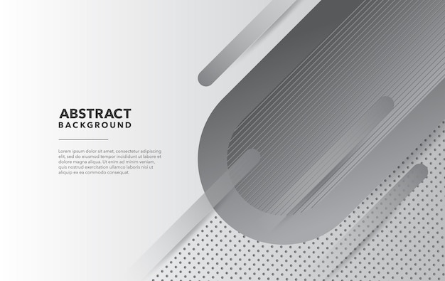 Disegno di sfondo astratto moderno grigio bianco
