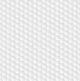 Struttura volumetrica a griglia a nido d'ape bianca. sfondo di cellule esagonali. modello a griglia.