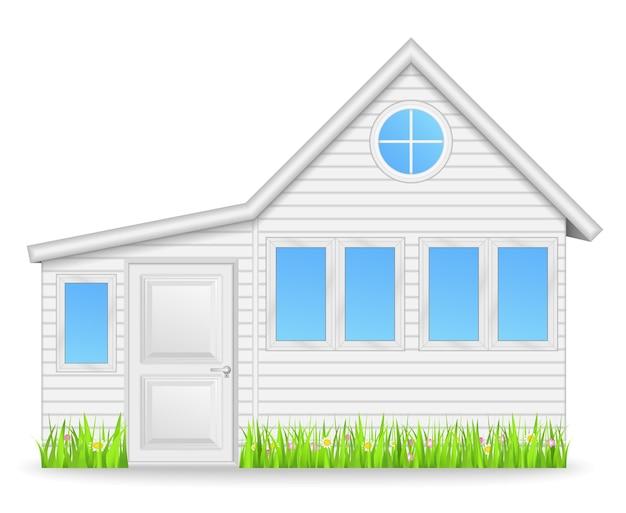 Casa bianca, illustrazione