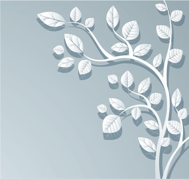 Sfondo di foglie bianche