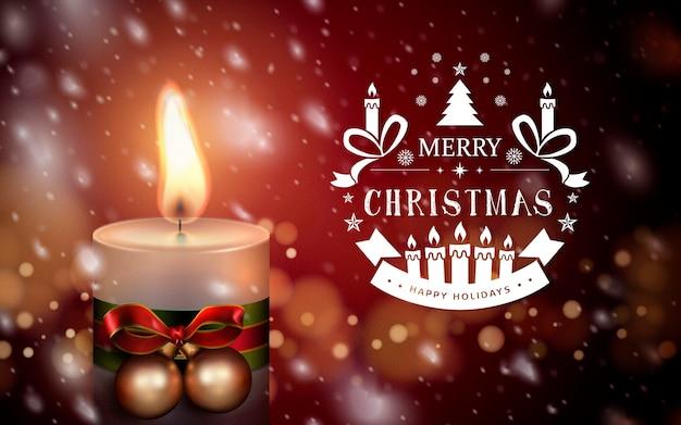 Bianco buon natale buone feste logo