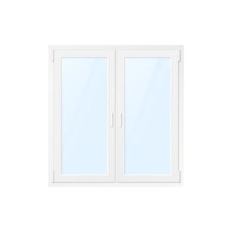 Finestra di plastica bianca dell'ufficio