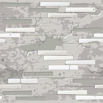 Bianco vecchio muro di mattoni texture senza soluzione di continuità. mattone di pietre piatto modello senza soluzione di continuità.