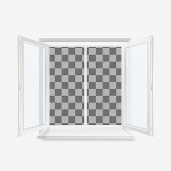 Finestra di plastica bianca per ufficio aperto