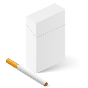Pacchetto di sigarette bianco