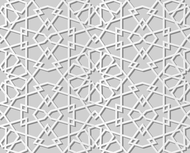 Carta bianca arte geometria modello croce sfondo senza soluzione di continuità, elegante sfondo modello decorazione per biglietto di auguri banner web
