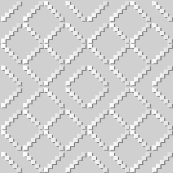 White paper art mosaico pixel triangle check cross frame, elegante motivo di sfondo per biglietto di auguri banner web
