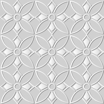 White paper art round curve cross frame line flower, elegante motivo di sfondo per biglietto di auguri banner web