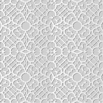 White paper art spiral curve cross frame flower lace, elegante motivo di sfondo per biglietto di auguri banner web