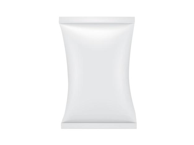 Imballaggio di carta bianco isolato