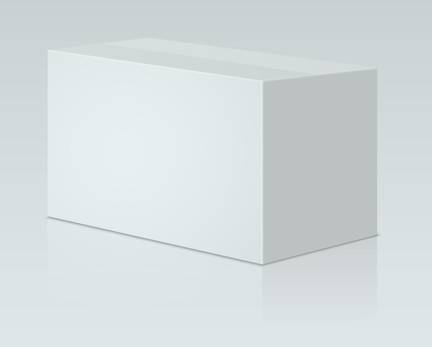 Imballaggio di carta bianca
