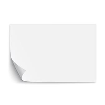 Foglio di carta bianco. illustrazione.