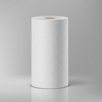 Asciugamani di carta bianca. illustrazione