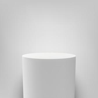 Piedistallo bianco rotondo bianco colonna podio 3d