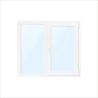 Finestra in plastica bianca