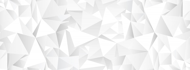 Sfondo bianco mosaico poligonale astratto Vettore Premium