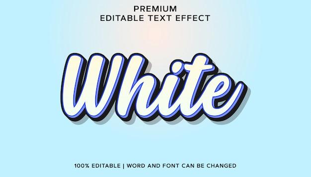 Effetto di testo del carattere modificabile premium bianco