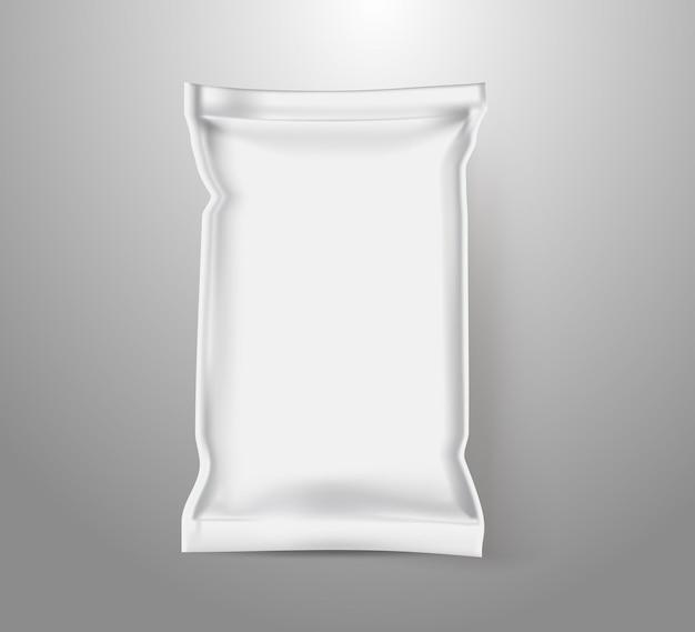 Imballaggio di plastica rettangolare bianco per alimenti