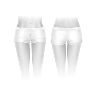 Shorts bianchi per le donne isolate