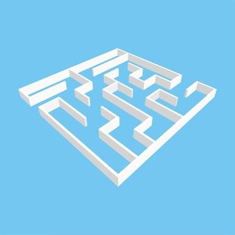 Foglio di lavoro labirinto quadrato bianco per bambini