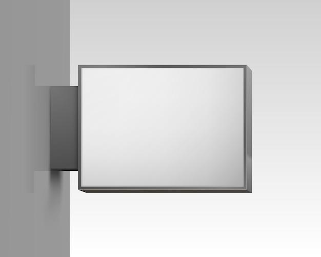 Cartello quadrato bianco su sfondo bianco. illustrazione vettoriale