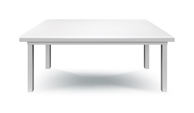 Tavolo bianco isolato