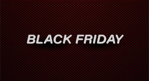 Banner di vendita venerdì nero testo bianco su sfondo rosso trama.