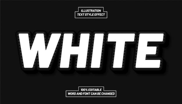 Effetto stile testo bianco