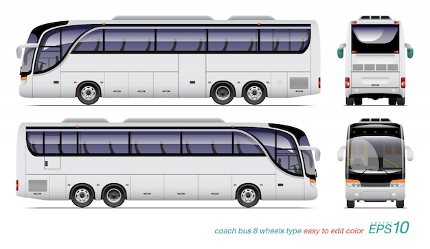 Bus turistico bianco.