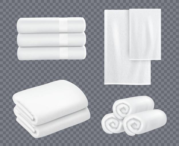 Set asciugamani bianchi Vettore Premium