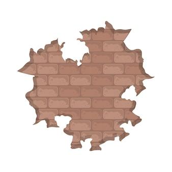 Muro bianco distrutto