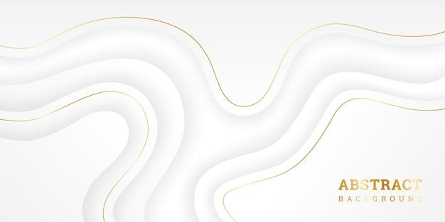 Sfondo bianco ondulato con in stile carta Vettore Premium