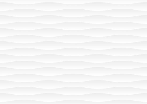 Sfondo bianco linee ondulate, modello senza soluzione di continuità.