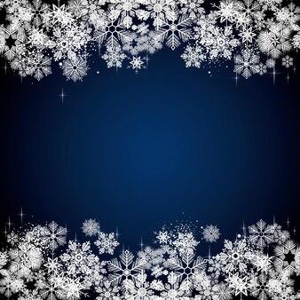 Illustrazione bianca della priorità bassa dei fiocchi di neve di inverno