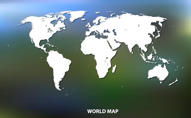 Mappa del mondo bianco.