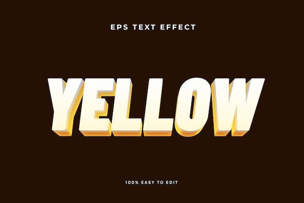 Effetto di testo giallo bianco
