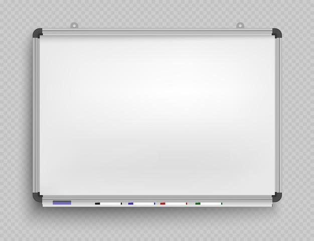 Lavagna per pennarelli. presentazione, schermo di proiezione vuoto. struttura del fondo del bordo dell'ufficio