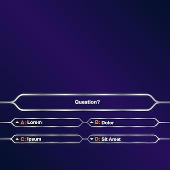 Chi vuol essere milionario?. sfondo del modello di gioco intellettuale