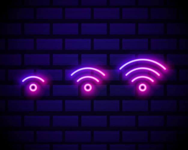 Insegna al neon di connessione wi-fi.