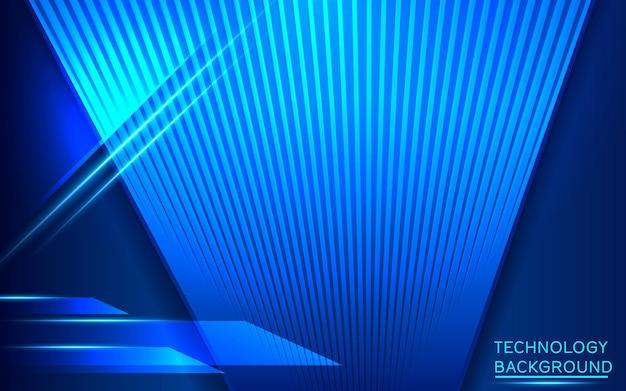 Ampio concetto di tecnologia digitale hi-tech. illustrazione alta tecnologia informatica su sfondo blu. design futuristico astratto. illustrazione vettoriale di fantascienza.