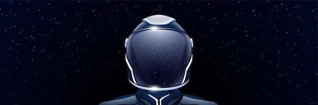 Ampia immagine dell'astronauta