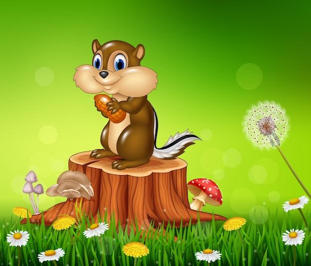 Cartone animato di animali selvatici