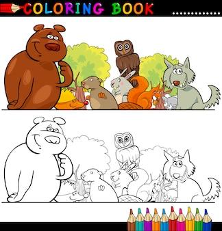 Animali selvaggi per colorare