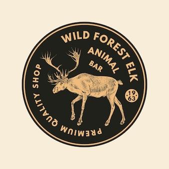 Adesivi animali selvatici in stile vintage