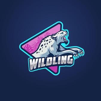 Modello di logo per l'esportazione del gatto selvatico