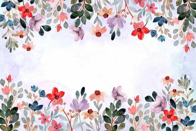 Fondo astratto dell'acquerello floreale selvaggio