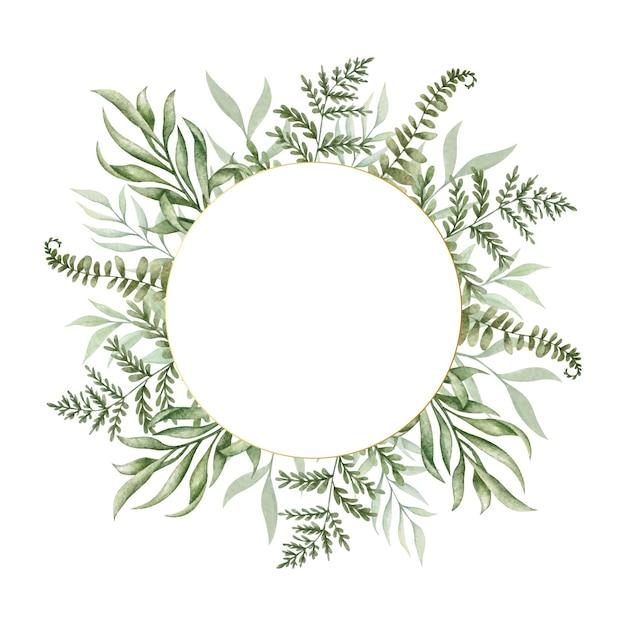 Cornice di foglie di vegetazione selvaggia