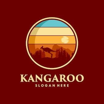 Design del logo del canguro selvatico