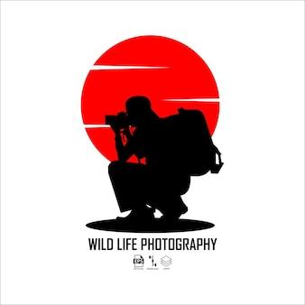 Illustrazione di fotografia di vita selvaggia formato pronto eps 10